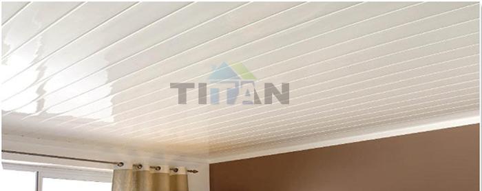 20cm Plastic Bathroom Groove Kenya Pvc Ceiling Board Price
