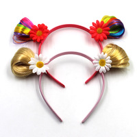 New Arrive Natural Color Kids Wigs Flower Hair Clasps