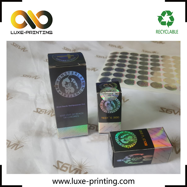 Destructible Vinyl and hologram affectTamper Proof Security BARCODE Sticker Label Seals