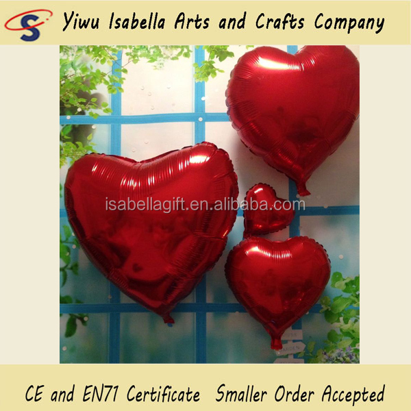 Hot selling in stock love you red 30inches big wedding party heart balloons