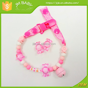 Fashion colorful pacifier chains holding hanging on baby stroller