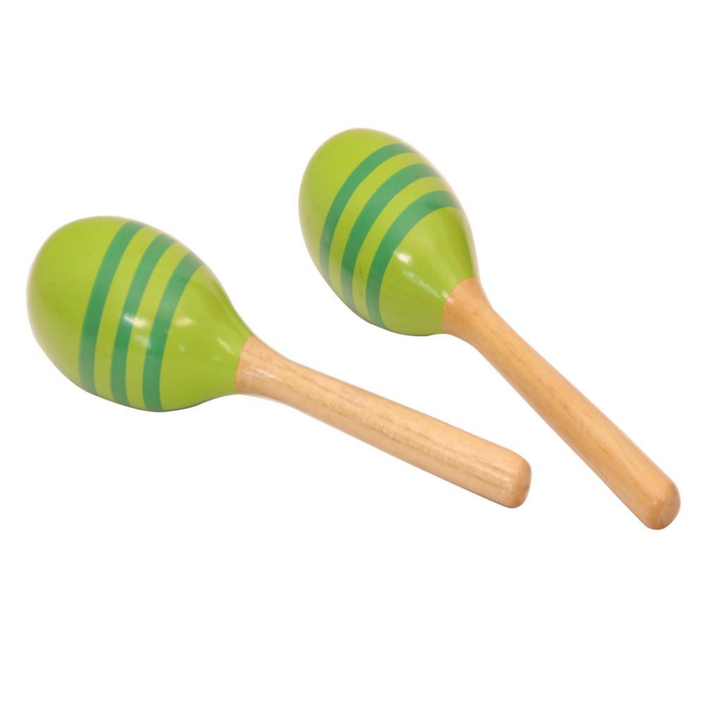 Handgefertigten 1 Paar Holz Maracas Musik Rasseln Shaker für Baby Kinder
