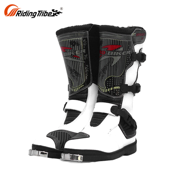 Short Waterproof Outdoor Boots For Motocross Gear Motorcycle Racing Boots