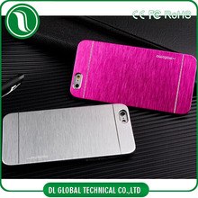 Mobile Accessories mobile phone case Luxury Metal Brushed Motomo For iPhone 6 Case