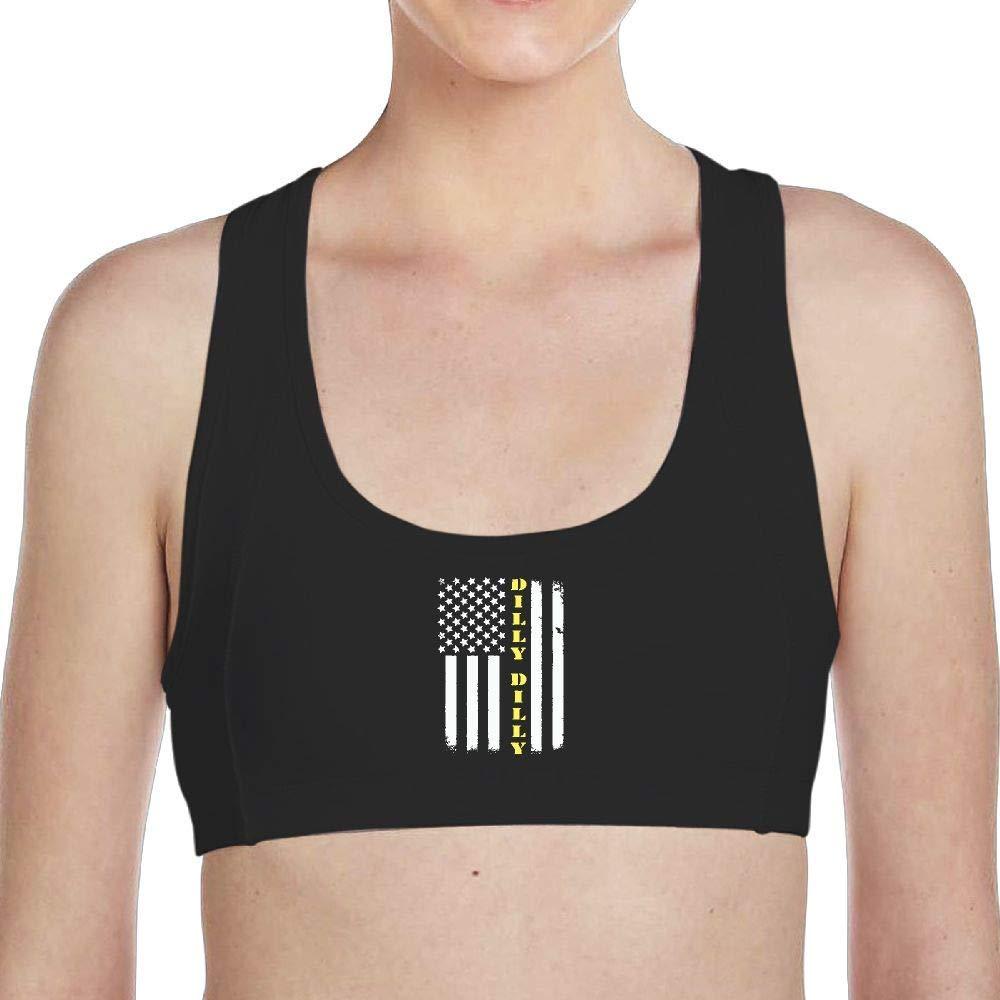 XYMYFC-E Womens Running Dilly Dilly American Flag Yoga Bra Underwear
