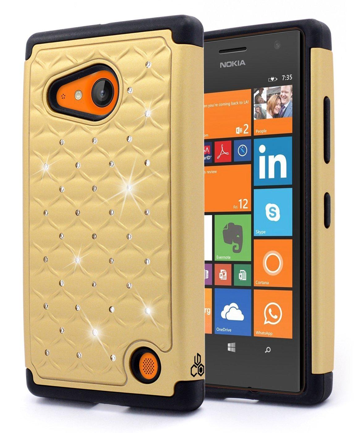 Bling Black Premium Durable Hard/&Soft Hybrid Gel Rhinestone Bling Armor Defender Case for Nokia Lumia 635【Storm Buy】 Nokia Lumia 635 Case