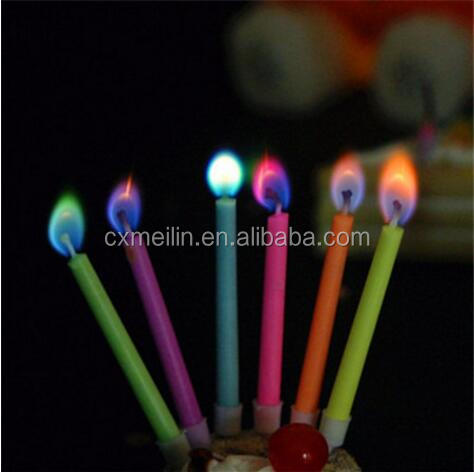 Popular birthday color flame candle
