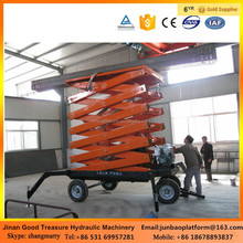 Small construction equipment mobile scissor lift table