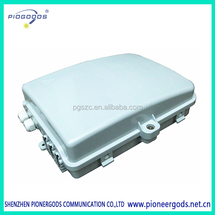 PG-FTTH0224A 2 inlet port 24 outlet ports engineer plastic Outdoor 24 Cores Plc Fiber Optic Splitter Ftth Distribution Box