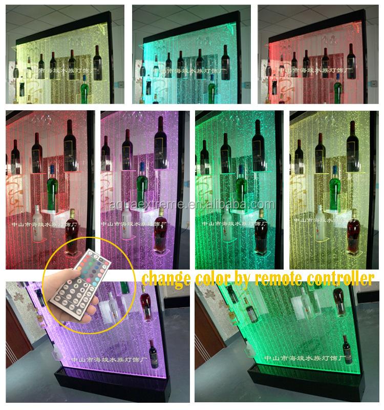 Aangepaste acryl led verlichting water bubble wand wijn kast voor bar decoratie schermen en - Aangepaste kast ...