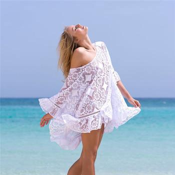 436d5e1d8f New Arrivals Sexy Beach Cover up White Crochet Robe de Plage Pareos Cover  Ups for Women