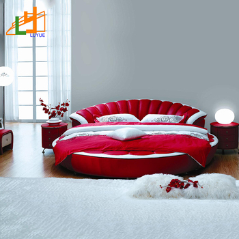 Fashion European Style Round Home Leather Sofa Bed Soft Modern Leather Bed  - Buy Modern Leather Bed,Home Bed,Soft Bed Product on Alibaba.com