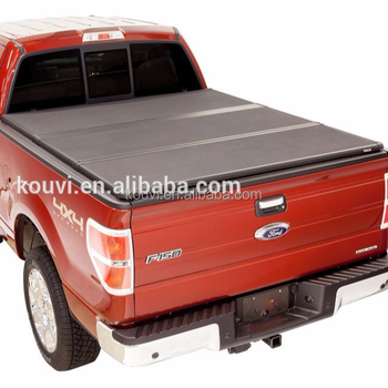 KV8802 Hard tri fold tonneau cover truck bed locking pickup truck covers for 2012 toyota hilux vigo double cab tunning kit
