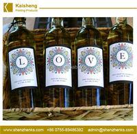 Vinyl waterproof wine label/Variable Data Printing for Wine Label