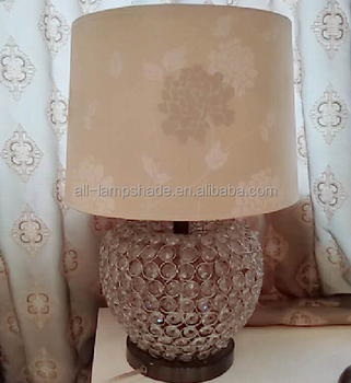 Modern Beige Printing Fabric Acrylic Base Table Lamp Buy Table