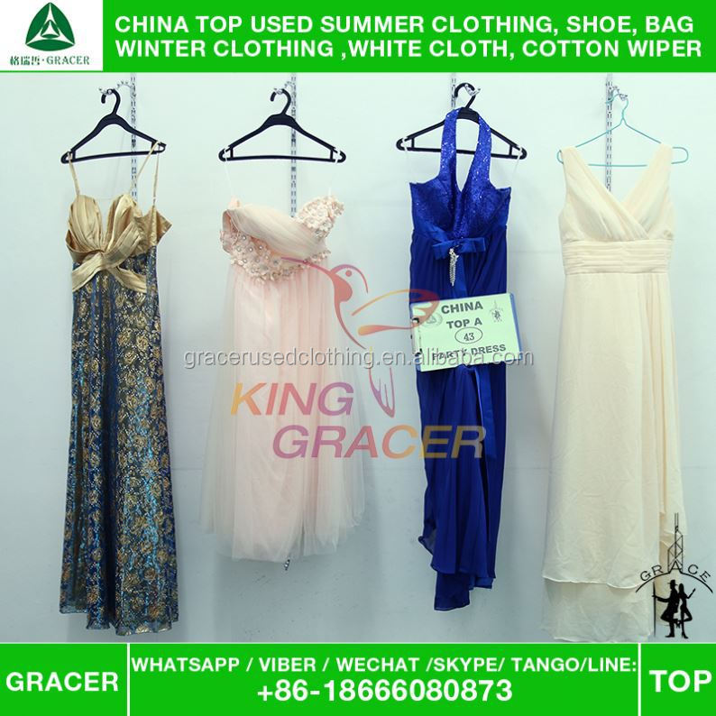 Australia/ karachi style Supplier Second Hand Modern Event Dress used clothing from china
