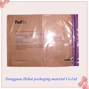 Fedex express a4 document envelope pouch with minigrip for Document pouch for shipping