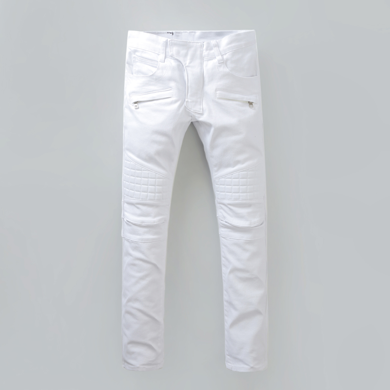 67b19917ab Hot Sell White Ripped Jeans Men With Holes Super Skinny Famous Designer  Brand Slim Fit Destroyed