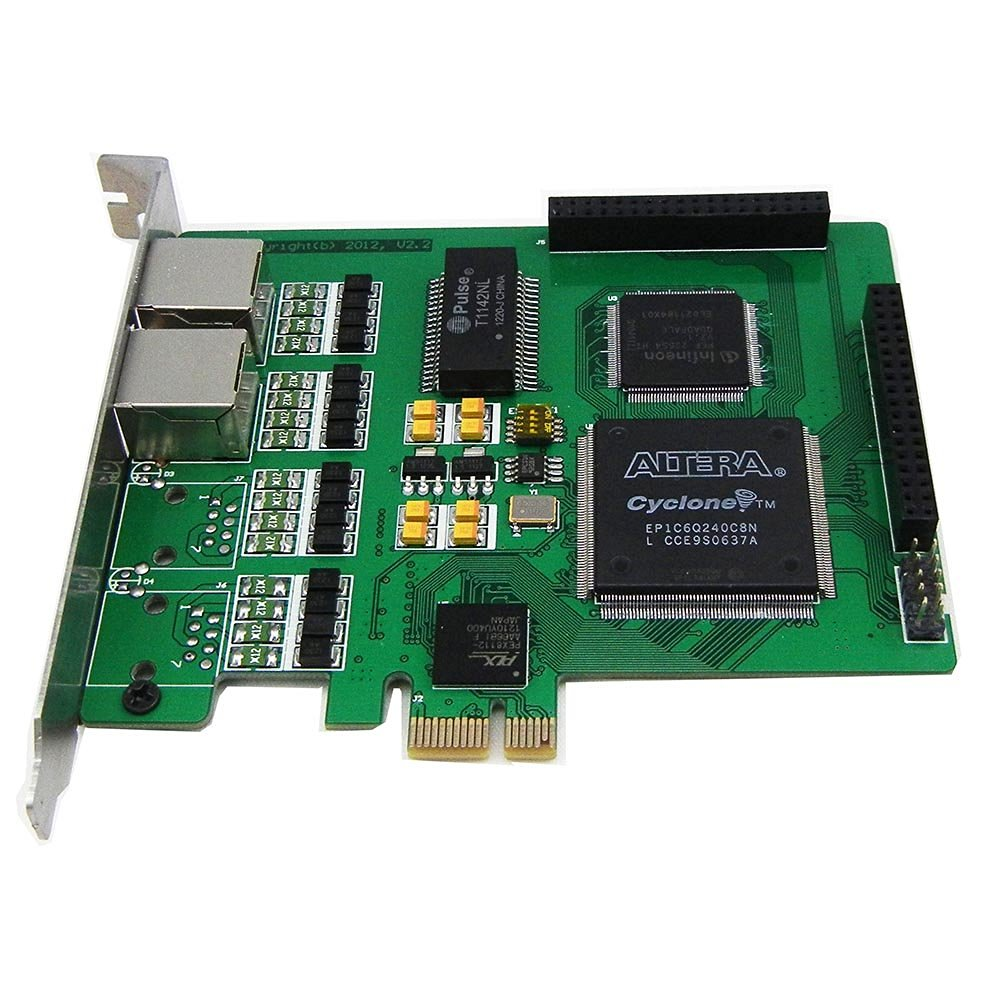 Dual Spans Selectable E1 or T1 Pcie Card Suitable for Asterisk Based Applications