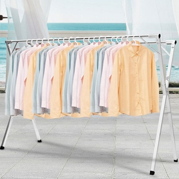Household Heavy Duty Stand Adjustable Clothes Hanger Rack Hanging Telescopic Clothes Drying Rack Hanger Stand For Clothes