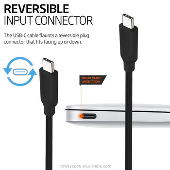 PVC usb type c cable 3.1 5a USB IF certified 10Gbps 1M,usb power delivery cable 100w