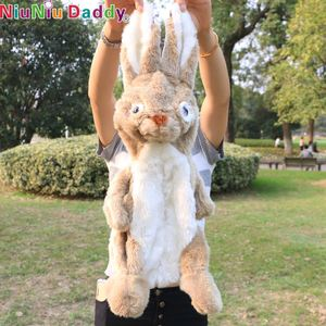 Niuniu Daddy, 55 cm Semi-finished Rabbit Plush Animals Beanie Babies Brown Bunny Rabbit Plush Toy l Kids Toys for Children