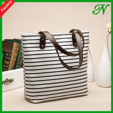 lovely shopping bag cotton bag canvas tote bag leather handle