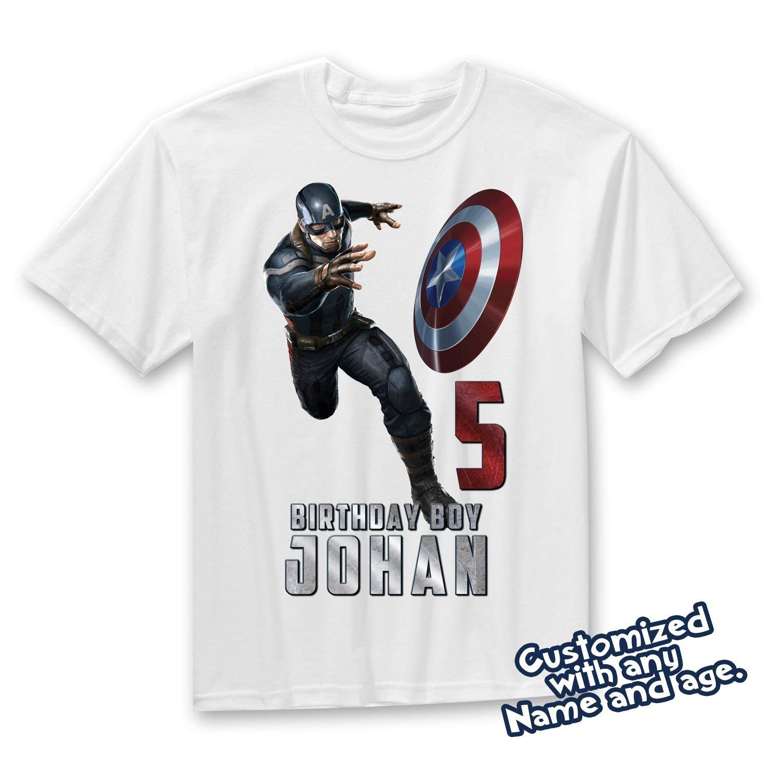Get Quotations Captain America Family Birthday T Shirts Personalized Shirt