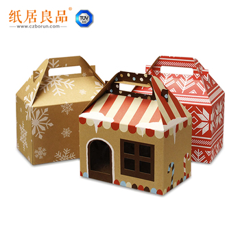 Creative Product Packaging Box Christmas gift box with handle and PVC window