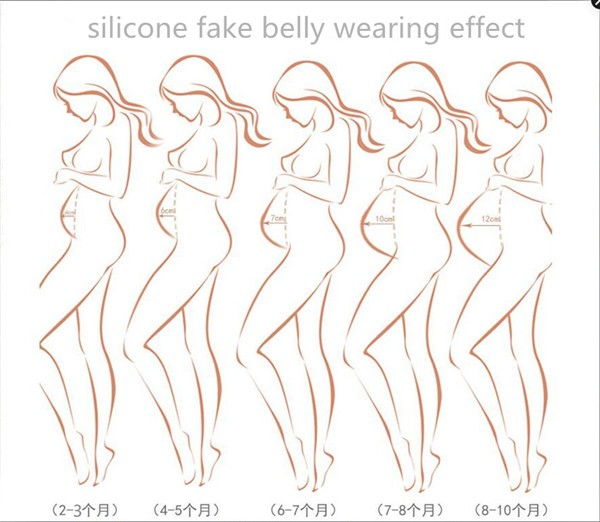 Free shipping Silicone pregnant belly real big Fake Tummy for False Pregnancy whole sale 4600g