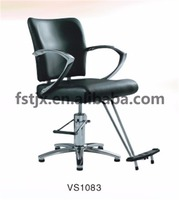 Hydraulic Hair Salon Styling Chair With T Footrest And Chromed Armrest