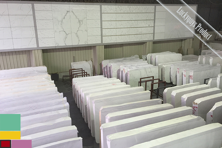 Vendita calda aristone bianco lastre di marmo e piastrelle per
