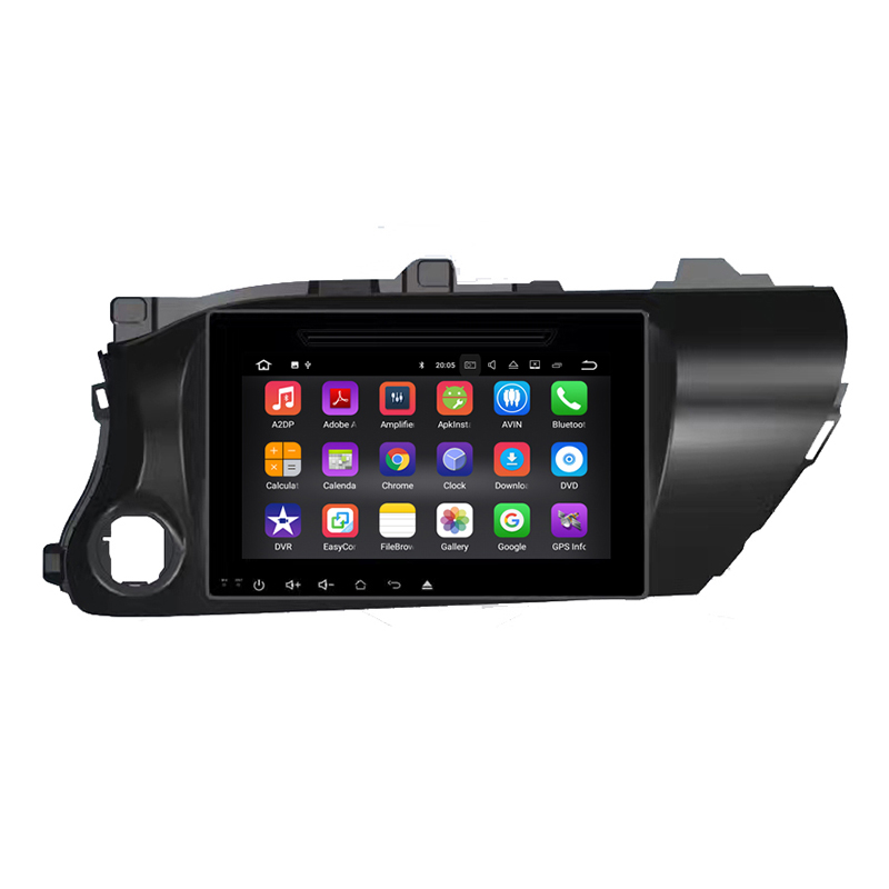 Android 8.0 otcat núcleo 4G 32G stereo Car DVD GPS Para Toyota Hilux 2017