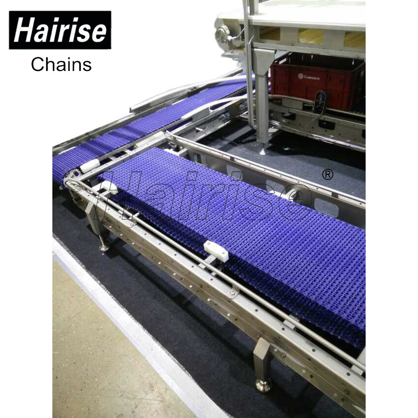 Hairise tripper modular plastic belt conveyor for food plastic dynamics system maintenance