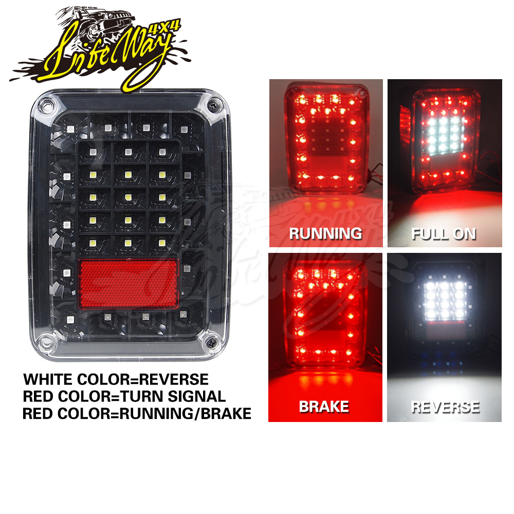 DOT Approved Red Stop Turn Signal LED Tail Light for Jeep Wrangler