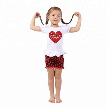 2018 Children Valentine S Day Boutique Clothing Sets Wholesale Kids