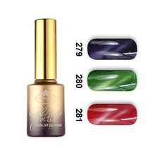 Free shipping 6pcs Florales magnetic cat eye UV soak off gel nail polish 15ml with a