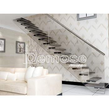 Decorative Interior Design Stairs/open Plan Stairs/floating Staircase Cost