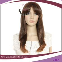 brown ladies korean hair style high temperature synthetic fiber wig