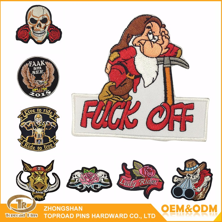 Zhongshan factory direct price custom cheap woven cartoon patches wholesale embroidered patches
