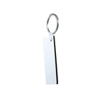 Simple rectangle shape sublimation blank key chain wood and heat press wood keychain for custom logo