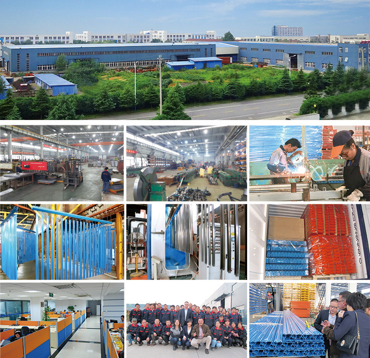 Teardrop pallet racking with wire mesh decking