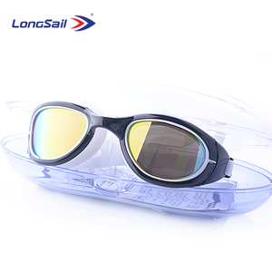 Large view mirror lenses silicon strap advanced swimming goggle for adult open water swimming