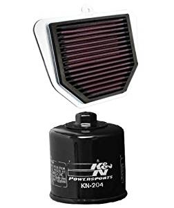 K&N Motorcycle Air Filter + Oil Filter Combo 2010-2014 Yamaha FZ8 YA-1006 + KN-204