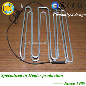 Stable Heat transfer aluminum pipe and PVC heater cord heater defroster with TUV certificate