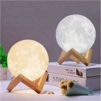 Multicolor Home Decoration Kids 3d print moon lamp night light customized 3d moon light moon lamp