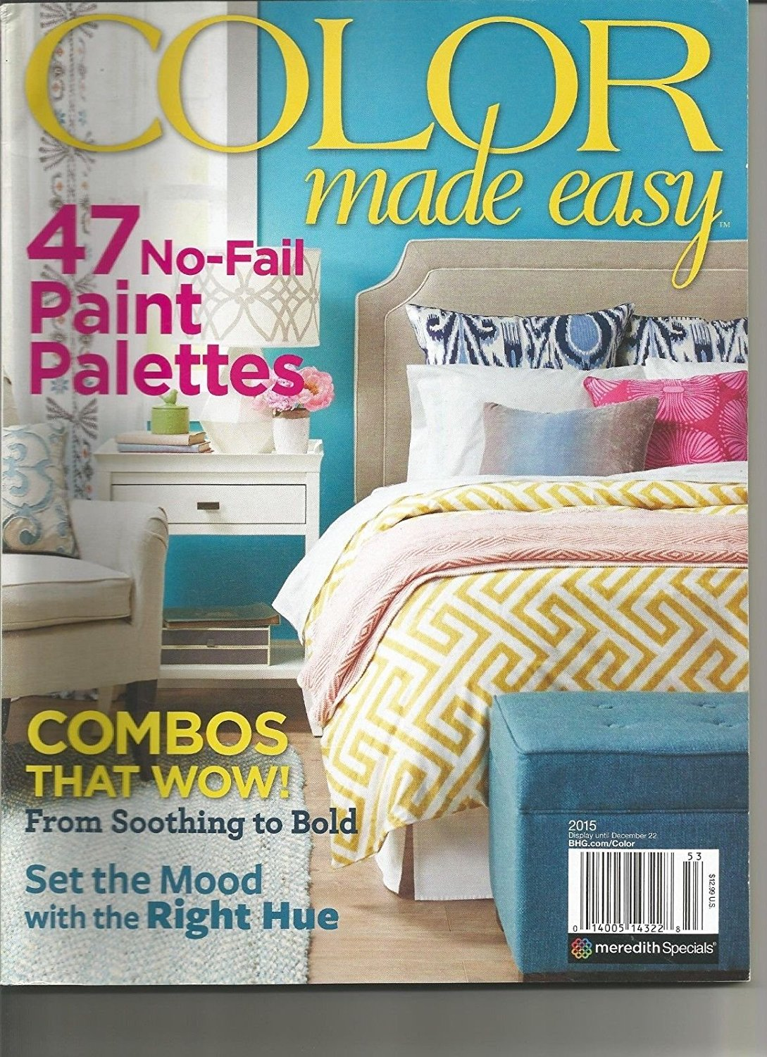 COLOR MADE EASY MAGAZINE, ISSUE 2015, (47 NO-FAIL PAINT PALETTES) ~