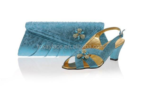 shoes bag bag slipper matching blue wedding and Turkey crystal IvEw68vx