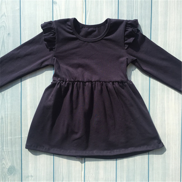New arrival fashion design flutter sleeve tunic dress
