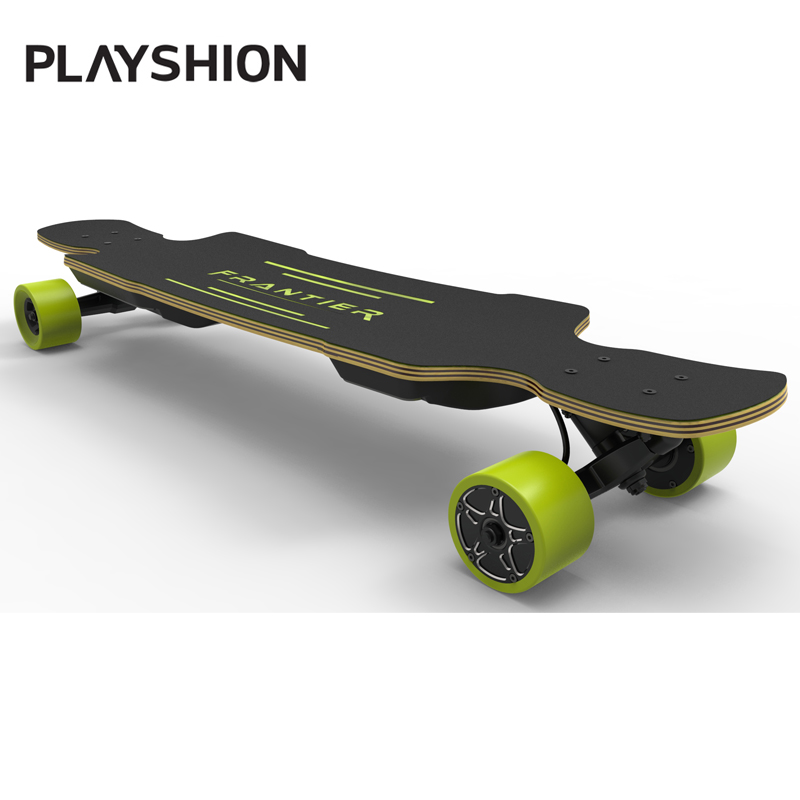 Playshion Electric Longboard Skateboard with Remote Controller